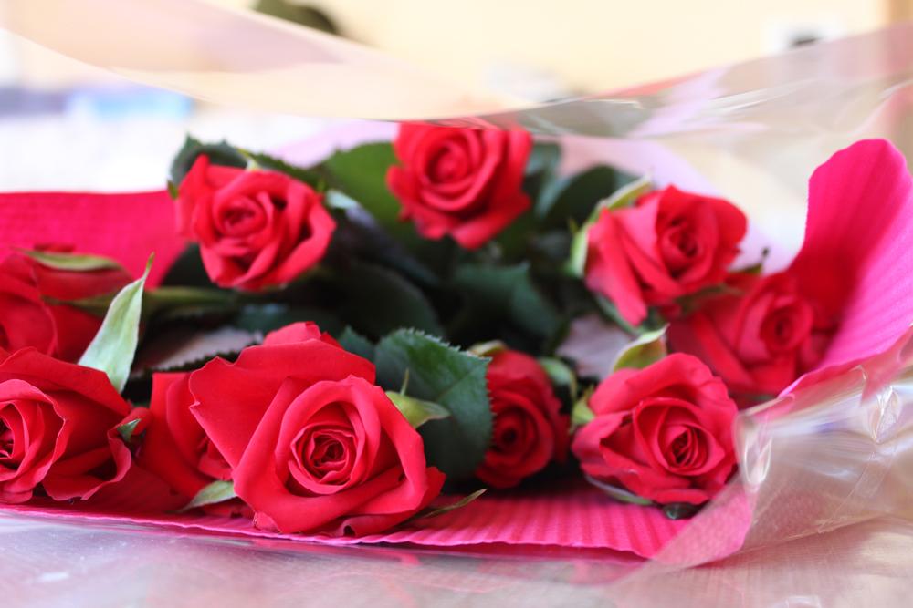 久しぶりのバラの花束