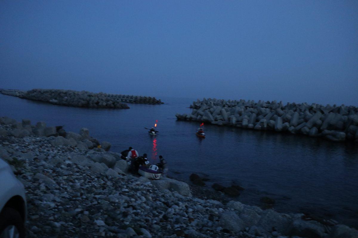 北陸の海で魚釣りをちょっと